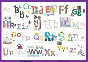 ABC poster chart by 26 childminders - 1 page version