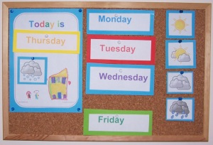weather poster for childminders