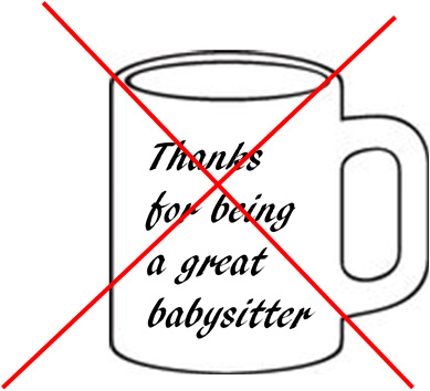 thanks for being a great babysitter mug