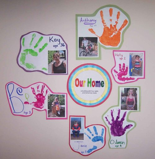 our home display for childminders