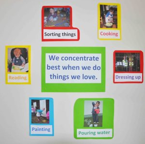 concentration poster for childminders