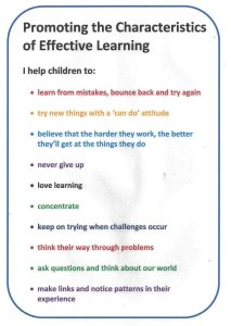 Promoting the Characteristics of Effective Learning Poster