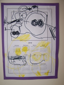 calendar by 3 year old