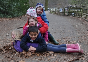 Forest Childcare pile of children