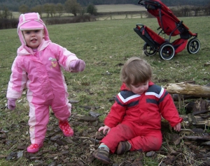 Forest childcare muddy toddlers
