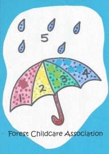 Umbrella counting and colour matching free printable