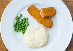 portion size fishfingers