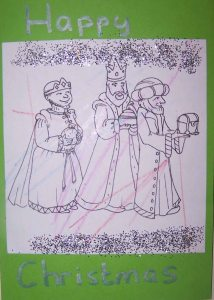 childminding christmas card template we three kings