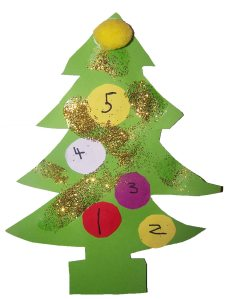 counting christmas tree for childminders