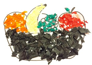 healthy eating art project for childminders