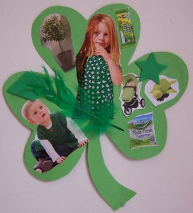 St Patrick's day sticking project for childminders