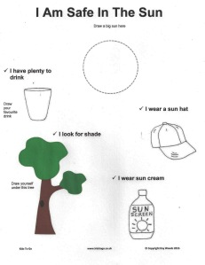 sun safety printable for childminders
