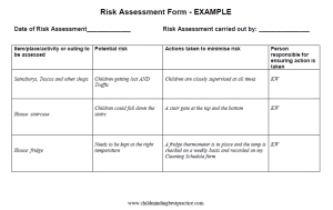 Risk assessments for childminders childminding best practice here is an example of how to fill it in maxwellsz