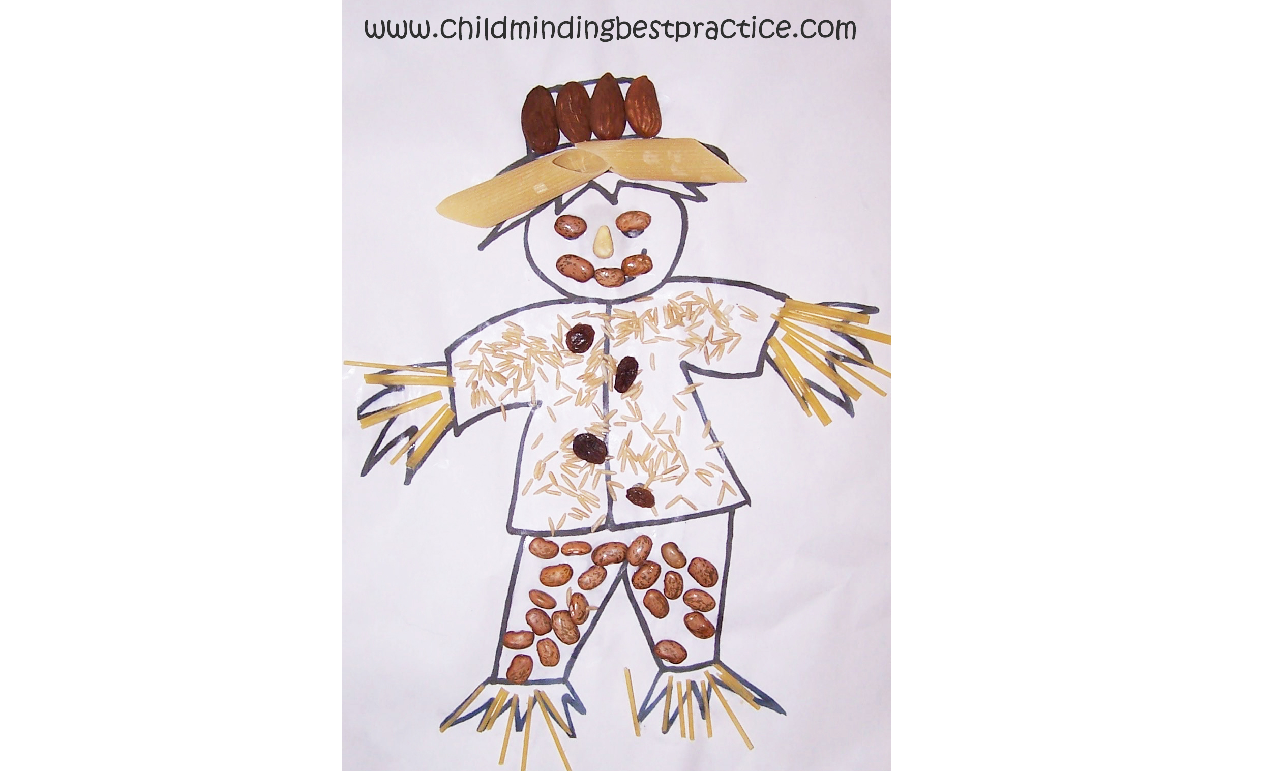 This is a graphic of Scarecrow Template Printable throughout outline
